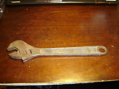 """Vintage Diamond Tool and Horseshoe Co. 10"""" Crescent Wrench"""