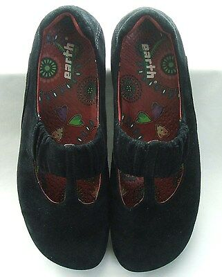 """Kalso """"Earth"""" Black Suede Shoes - Women's Size 9"""