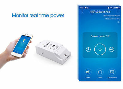 New Sonoff Pow WiFi Switch With Power Consumption Measurement Smart Home