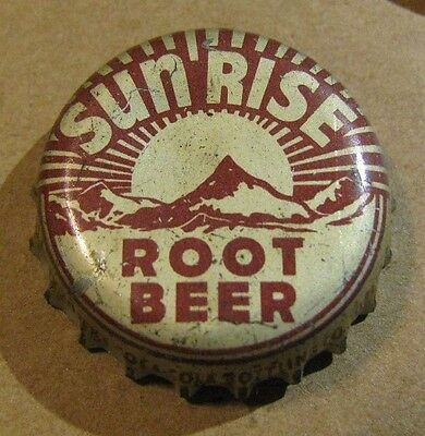 Sun Rise Root Beer Soda Topeka Kansas Cork Soda Bottle Cap
