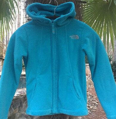 The North Face Girls Fleece Hooded Osito Jacket-Small-S-7-8-GC