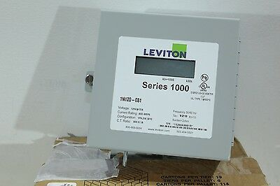 Leviton Indoor Electrical LCD Digital Sub-Meter 120v AC 800:0.1A 800A Max