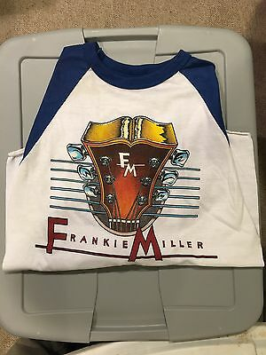 Vintage FRANKIE MILLER CONCERT TOUR  SHIRT-NEVER WORN-MEDIUM-Baseball SLEEVES-82