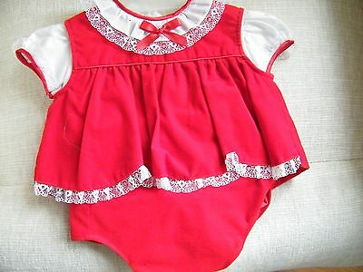 3 Piece Red Velvet Outfit for Lee Middleton or Other Modern Doll 9 Inches Long
