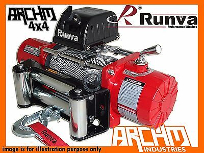 RUNVA 11XP RED 24V 11000LB 4990kg 4WD ELECTRIC STEEL CABLE RECOVERY WINCH