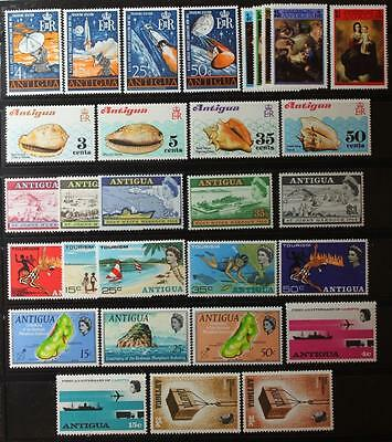Antigua Collection, MNH OG, Complete Sets Etc., All Never Hinged