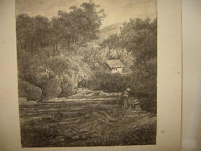 Pencil Drawing Landscape Artist Signed & Dated