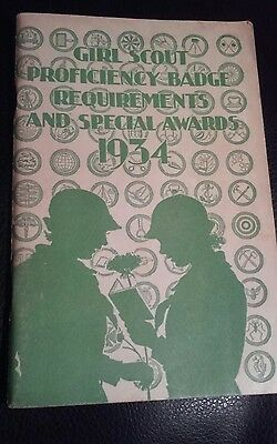 1934 Girl Scout Badge requirements and Special Awards Booklet