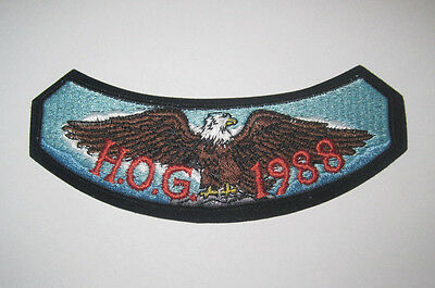 New RARE 1988 UnNotched HOG Harley Davidson Owners Group Patch Badge Unused