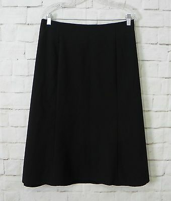 Womens Plus NOTATIONS Black A-Line Below Knee Casual Career Skirt Size 20