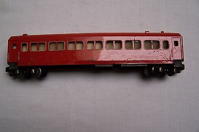 American Flyer # 650 Red Passenger Car With Die Cast Frame.