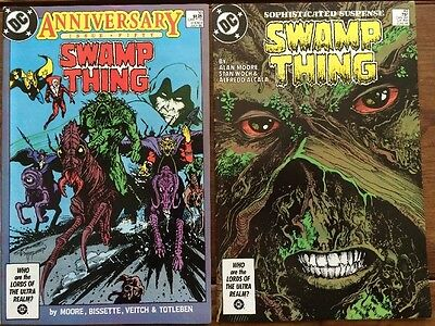 Swamp Thing #49 and  #50 1st app. Justice League Dark Alan Moore