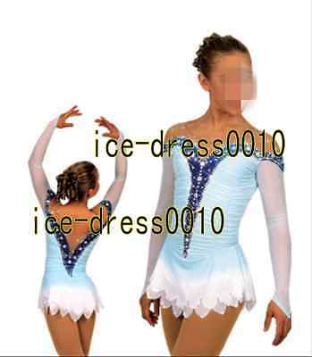 Brand New Figure Skating competition Dress Ice Skating Training Dress Adult 8902