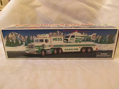 Hess Toy Truck & Helicopter - BOX ONLY - 1995 - EXC/NM Condition - Petroleum