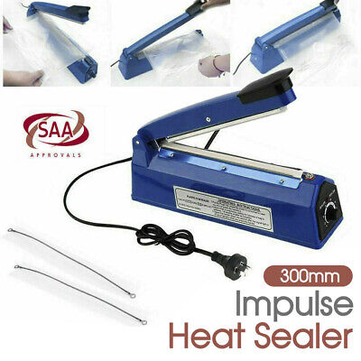 300mm Sealing Machine Electric Plastic Poly Bag Impulse SAA Heat Sealer