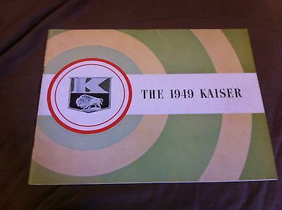 1949 Kaiser  Deluxe and Special Original Brochure Catalog Prospekt