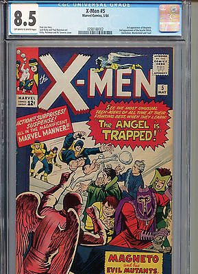X-Men #5 (Marvel 1964) CGC Universal Grade Certified 8.5 Off-White-White Pages