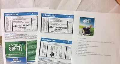 A Day on the Green 2 x tickets Don Henley 12th March 2017 and a Sirromet Hamper