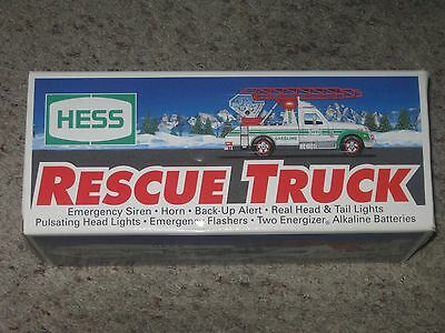 1994 Hess Rescue Truck New in Box Only Taken Out to be Photographed