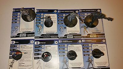 Q Star Wars Miniatures Imperial 8 Mini Arden Lyn Dark Trooper Shadow Trooper +
