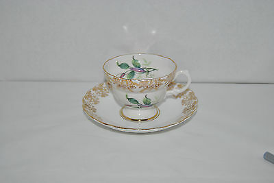 Outstanding Vintage Rosina, Fine Bone China Tea Cup And Saucer