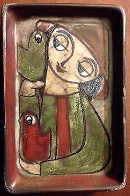 """Marianne Starck for Michael Andersen & Sons Wall Plaque 7"""" X 4 5/8"""""""