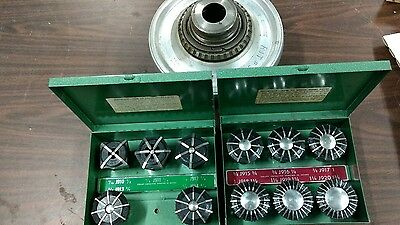 Jacobs Rubber Flex Collet Chuck L-0 Mount Model 91-T0 with full set of collets