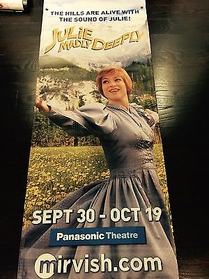 JULIE (ANDREWS) MADLY DEEPLY Theater Sound Of Music Poster Ad Banner Huge