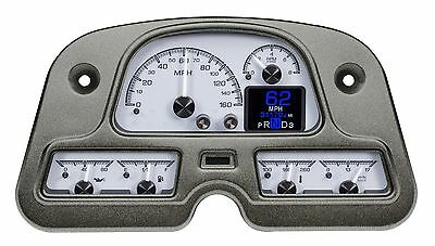 1962-84 Toyota Land Cruiser Dakota Digital Silve Alloy HDX Custom Gauge Dash Kit