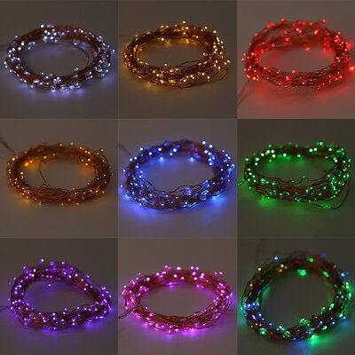 20-200LED Solar / Battery Powered Outdoor Xmas LED Fairy Lights String Party IB