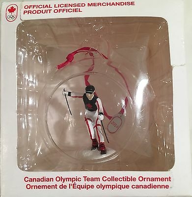 Team Canada Downhill Skiing figure Official Olympics Christmas Ornament New