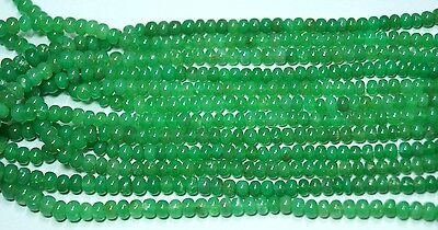 """100Cts. 16.5"""" 4-6 Mm Natural Australian Chrysoprase Smooth Rondelle Beads Strand"""