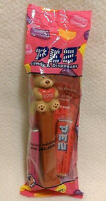 Valentines Bear Pez Heart Love New In Bag Nib Holiday Dispenser