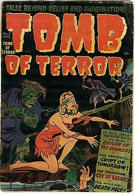 Tomb of Terror 3 August 1952 Harvey Horror comic GD-