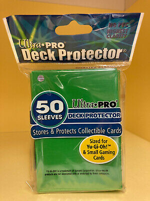 100(2 Packs) Green Ultra.Pro YuGiOh/CardFight Vanguard Deck Protector Sleeves
