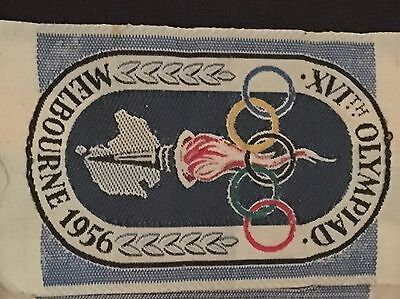 Olympic Cloth Patch 1956 Melbourne