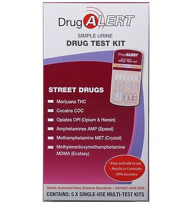 Drug Alert Street Drugs Test Kit - 5 Pack