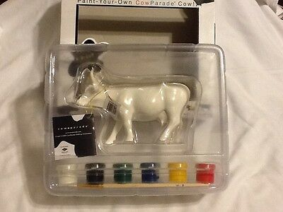 Cow parade, paint your own , figurine, NEW
