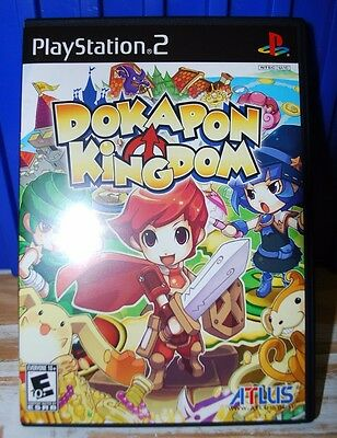 Dokapon Kingdom (Sony PlayStation 2, 2008) Mint. Never Played. Complete.
