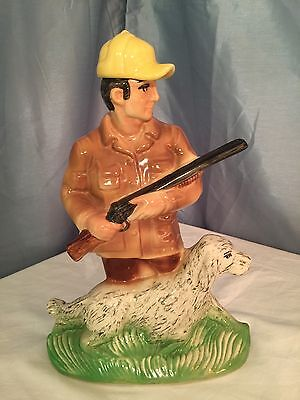 "Ezra Brooks 1973 Hunter & Dog Decanter Heritage China 13"" Height Vintage"