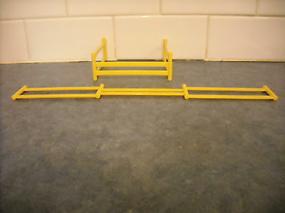 Lot Breyer Stablemate Farm 6 Yellow Hinged Fences Playset Miniature Dollhouse