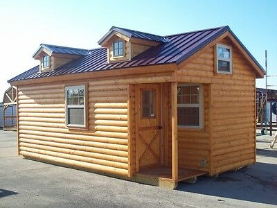 "Amish built log sided cabin, pre-built/delivered 12'x20' ""Baby Boone"""