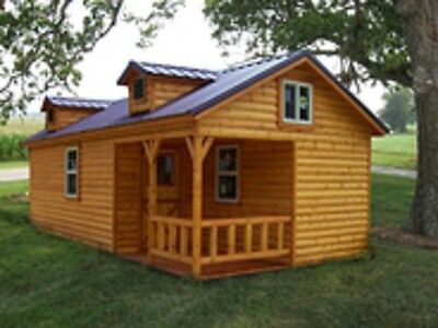 "Amish quality log sided cabin, pre-built/delivered 14' X 28' ""Boone"" model"