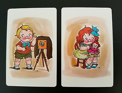 Genuine Vintage Campbell's Soup Swap Cards x 2 children