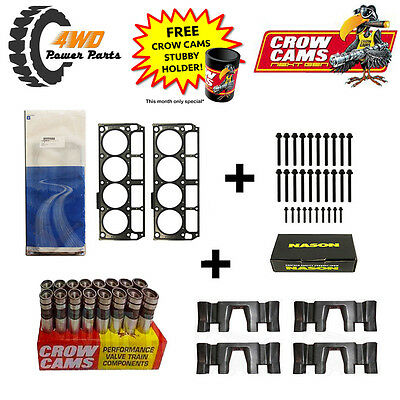 LS3, L98 Head Gaskets and Bolts (2 Length) + Roller Lifter & Guide Kit