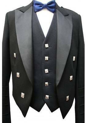 Professionalscottish Mens Prince Charlie Traditional Kiltjacket In Wool&polyste