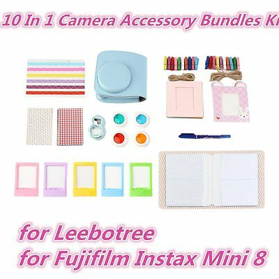 10 In 1 Camera Accessory Bundles Kit for Leebotree for Fujifilm Instax Mini AU