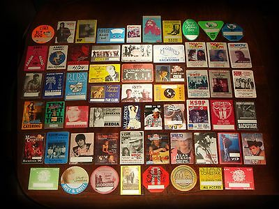 WHOLESALE LOT OF 47 COUNTRY MUSIC CONCERT MEMORABILIA Original Backstage Passes