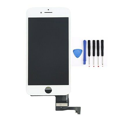 LCD Display Touch Screen Digitizer Assembly Replacement White For iPhone 7 4.7""