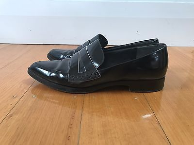 Kenzo Black Leather Women's Loafers - Size 40